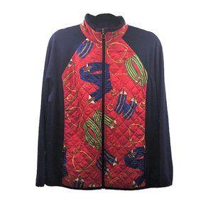 LRL RALPH LAUREN Equestrian Print Designer Jacket